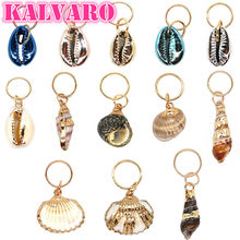 Kalvaro 32Pcs/Pack Bohemia Styles Natural Shell Charms Hair