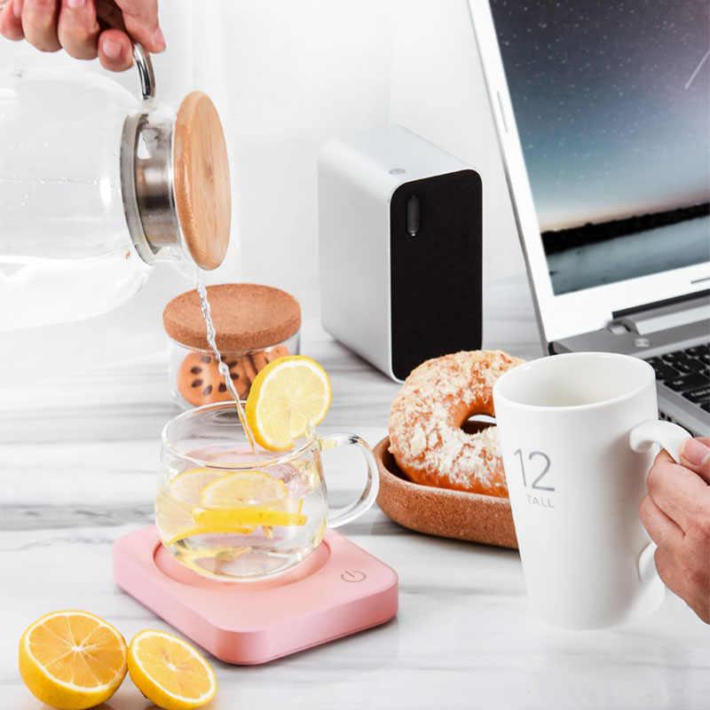 القدح كوب دفئا للاستخدام مكتب عمل مع ثلاثة إعدادات درجة الحرارة الاحترار لوحة ل الكاكاو الشاي الحليب المياه 8h السيارات قبالة الحماية