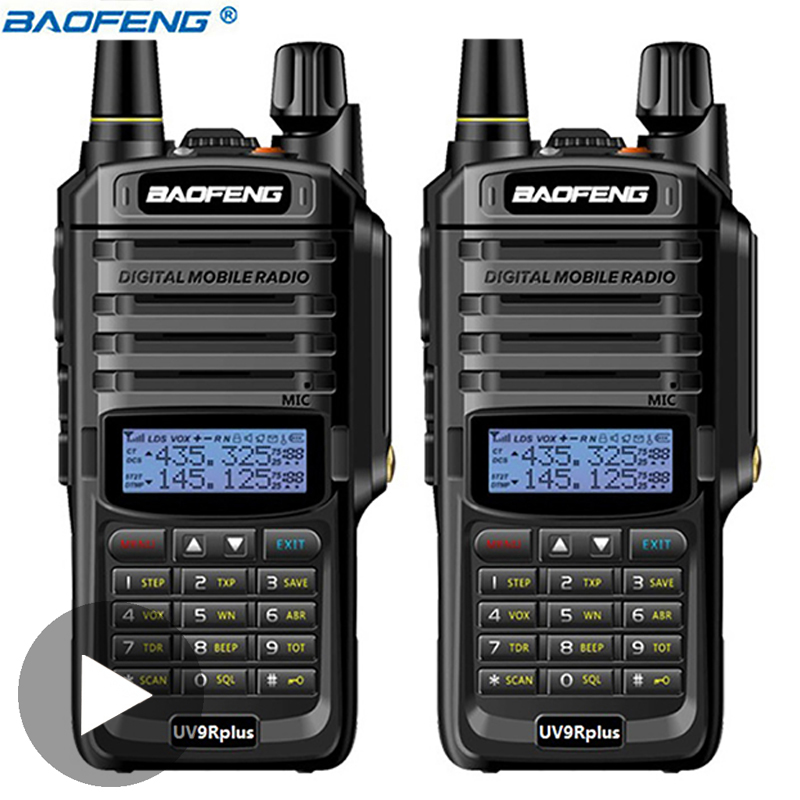 2 PCS Baofeng UV 9R UV9R UV-9R Plus Ham VHF UHF Radio Station Waterproof Baofeng Walkie Talkie IP67 Transceiver Boafeng 10 Km W