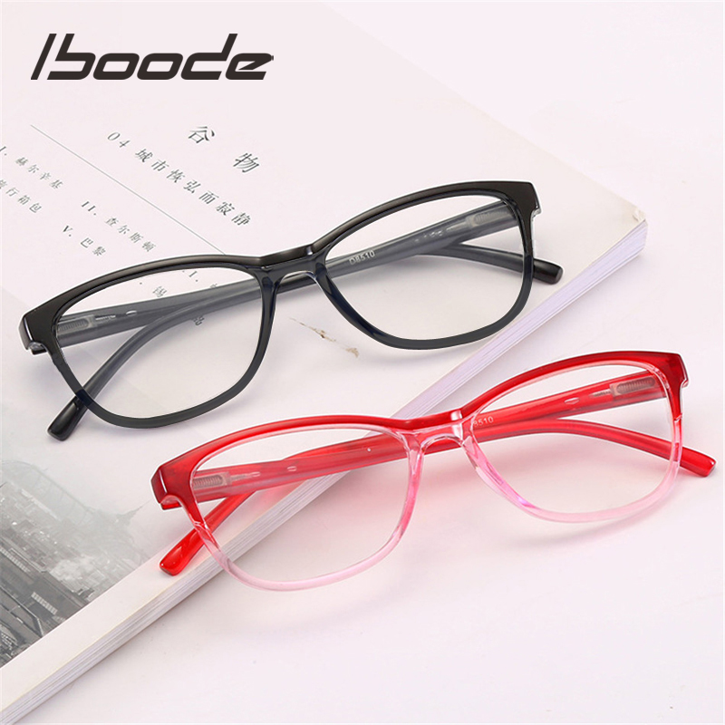 Iboode Ultralight Presbyopia Reading Glasses Women Men Retro Cat Eye Presbyopic Eye Glasses For Reader +1.0 1.5 2.0 2.5 3.0 3.5