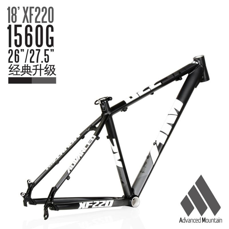 Lightweight Bicycle Frame AM XF220 Aluminum Alloy 26/27.5ER 650B Mountain Bike XC Frame 16/17/18inch MTB Frame
