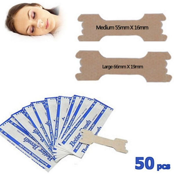 50 Pcs Breathe Nasal Strips Right Way Stop Snoring Anti Snoring Strips Easier Better Breathe Health Care  Anti Snurk