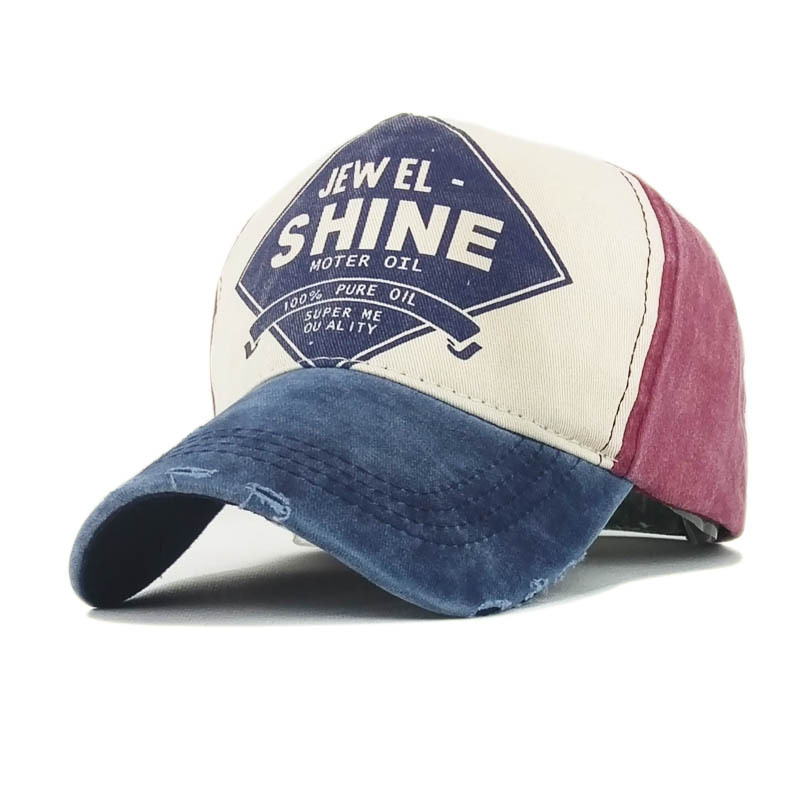 Casual Casquette Embroidery Shine Letter Printing Cap 100 Washed Cotton Men Baseball Cap Snapback Hat Sports Women Gorras in Men 39 s Baseball Caps from Apparel Accessories