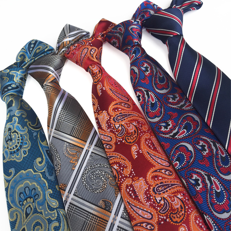Tie Trendy Paisley Cashew Flower Men's Gifts Daily Casual Suit Shirt Business Banquet Wedding Polyester Jacquard Necktie