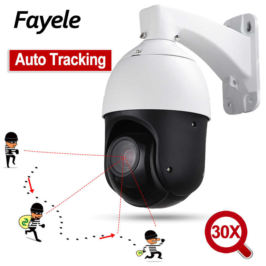 IP66 Outdoor POE 2MP Auto Tracking PTZ Camera Persoon Detectie Humanoïde Erkenning H.265 IP Camera IR100M Auto Tracker 30X ZOOM