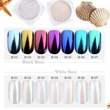1g Shinning Aurora Magic Mirror Chrome Unghie Artistiche Polvere Glitter Colorato Pigmento Fiocchi Della Polvere Della Decorazione Manicure Punte di JIB01 07