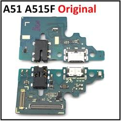 Nowość w Samsung Galaxy A51 A515F moduł mikrofonu złącze portu ładowania USB złącze kabla Flex części zamienne