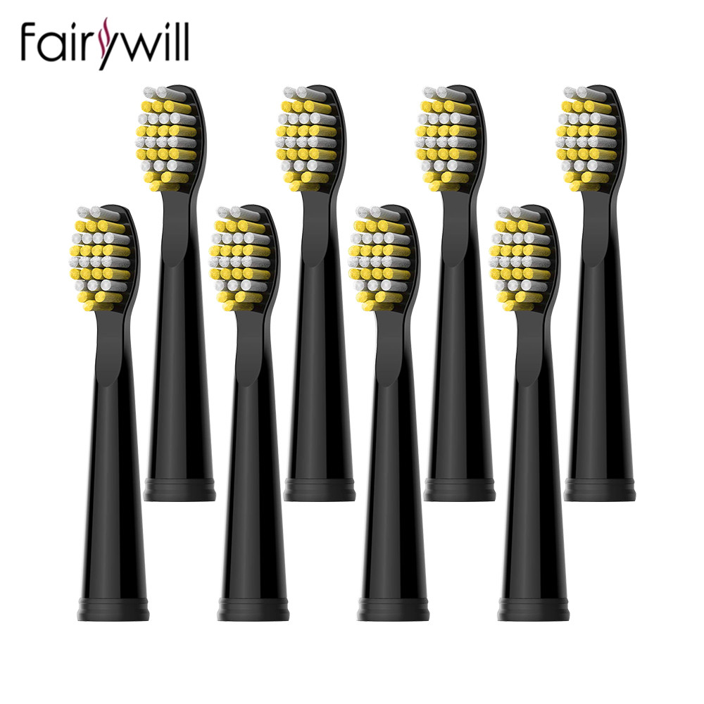 Fairywill насадка для зубной щетки, электрические зубные щетки, звуковые Сменные мягкие щетинки для женских бриджей