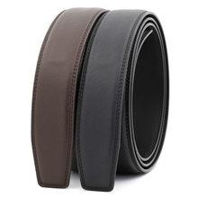 Cinturones de marca de lujo para hombre, Correa masculina de alta calidad, cinturón para hombre de cuero genuino, sin hebilla, LY131-3303 de 3,1 cm