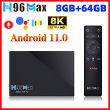 LEMFO H96 Max RK3566 Smart TV Box Android 11 4GB 32GB 8GB 64GB 2.4G 5G Wifi 8K Voice Google Play H96max TV Box Android 11.0