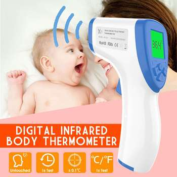 LCD Non-Contact IR Infrared Thermometer Baby Foreahead Thermometer Body Laser Pyrometer Digital Temperature Meter