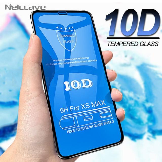 50 قطعة 10D التغطية الكاملة الزجاج المقسى آيفون 12 Mini 11 Pro XS Max XR X 8 Plus 7 6 6S SE 2020 غطاء حامي الشاشة فيلم