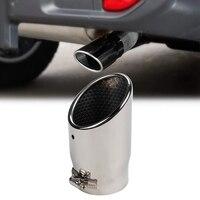 Silenciadores do carro traseiro cauda tubo de escape para jeep wrangler jl 2018 2019 ponta escape carro acessórios do tubo  prata