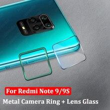 กรอบโลหะเลนส์กล้องกระจกนิรภัยสำหรับ Xiaomi Redmi หมายเหตุ 9 PRO MAX 9S 8 8T 7 K20 k30 Pro Mi Poco X2 9T กล้อง Protector