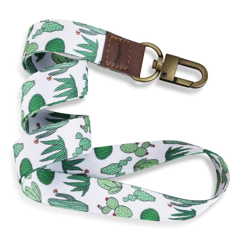 485*20mm Keychain Straps Rope Mobile Phone Neck Strap Lanyard For ID Card Key Chain USB Badge Holder DIY Lariat Lanyard Hang Rop