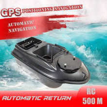 GPS RC Bait Boat 6 big Function Remote Control Fishing Finder Boat 3KG 500M Night Light Lure Fishing Smart One-Key Return toy