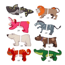T shirt Girl Diy Embroidered Crocodile Patch Horse Shark Animal Applique iron on patches for clothing baby deal with it Stickers(China)