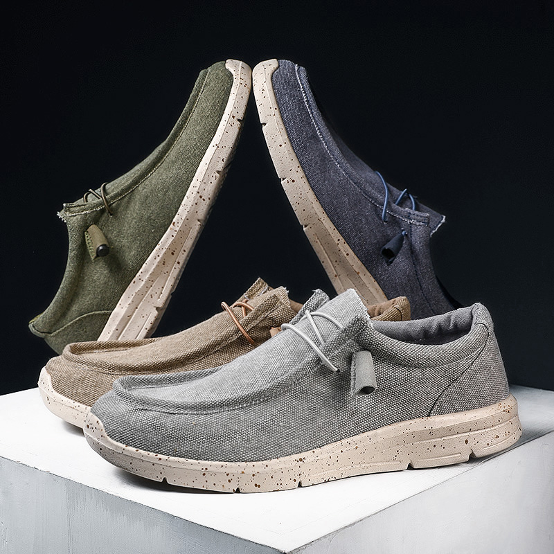 New Casual Canvas Driving Shoes Men