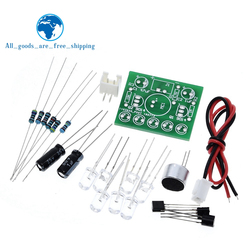 3V-5.5V Voice Activated Control Lamp LED Melody Light Module DIY Electronic Funny Kit Production Suite Learning PCB Laboratory