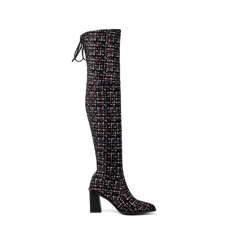 Image 3 - MORAZORA 2020 new arrival over the knee boots women pointed toe autumn winter high heels boots ladies party wedding shoes-in Over-the-Knee Boots from Shoes