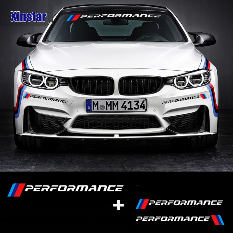 KK New M Performance Car Windscreen Windshield Sticker For BMW E30 E36 E60 E46 E90 E71 E87 F30 F10 F20  X1 X3 X4 X5 X6