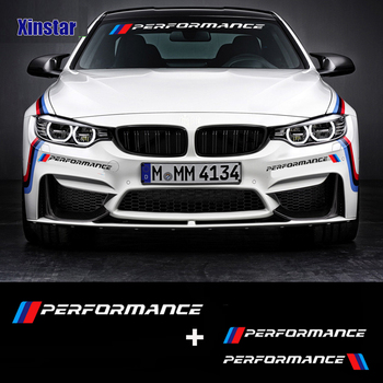 цена на KK new M performance car windscreen windshield sticker for BMW E30 E36 E60 E46 E90 E71 E87 F30 F10 F20  X1 X3 X4 X5 X6