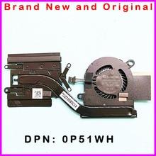 Новый Процессор охлаждения радиатора с вентилятор для ноутбука Dell Latitude 7390 E7390 0P51WH P51WH радиатор AT26B002ZCL EG50040S1-C880-S9A