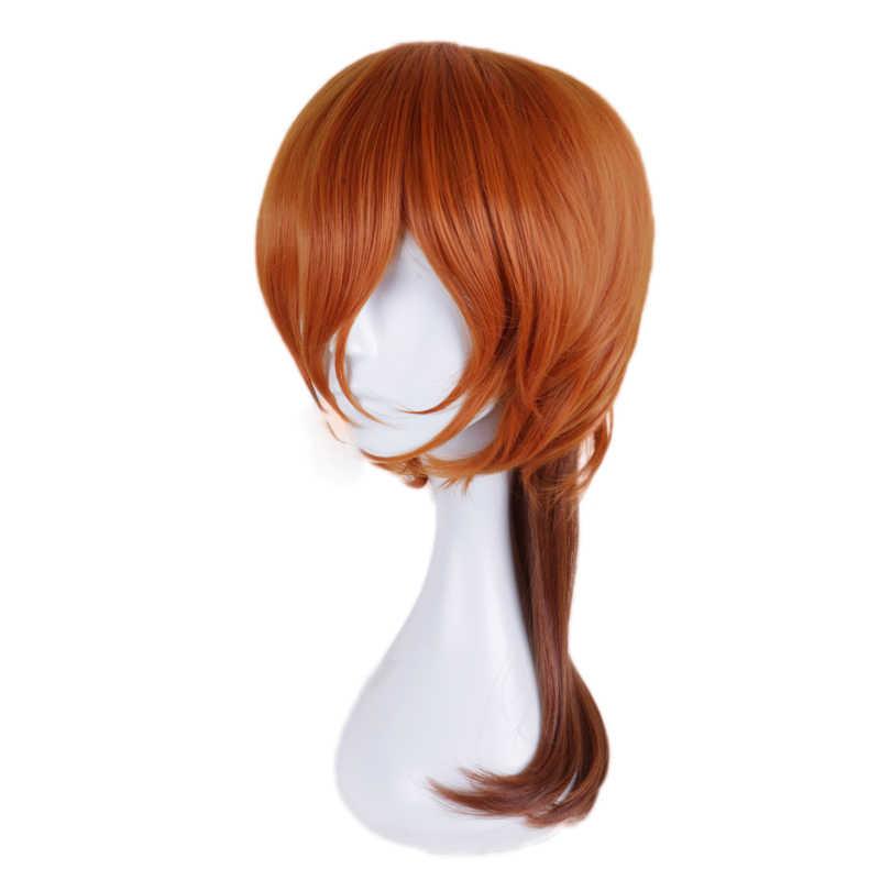 Anime Bungo Anjing Liar Chuya Nakahara Chuuya Orange Wig Cosplay Kostum Sintetis Tahan Panas Rambut Pria Wanita Wig Pesta