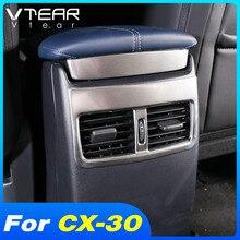 עבור מאזדה CX 30 CX 30 פנים Mouldings רכב משענת לשקע מזגן אחורי מסגרת כיסוי אביזרי שינוי 2020 2021