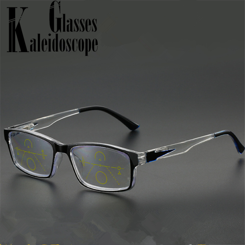 Progressive Multifocal Reading Glasses Men Women Anti Blue Light Eyeglasses Near Far Sight Diopter +1.0 +1.5 +2.0 +2.5 +3.0 +3.5