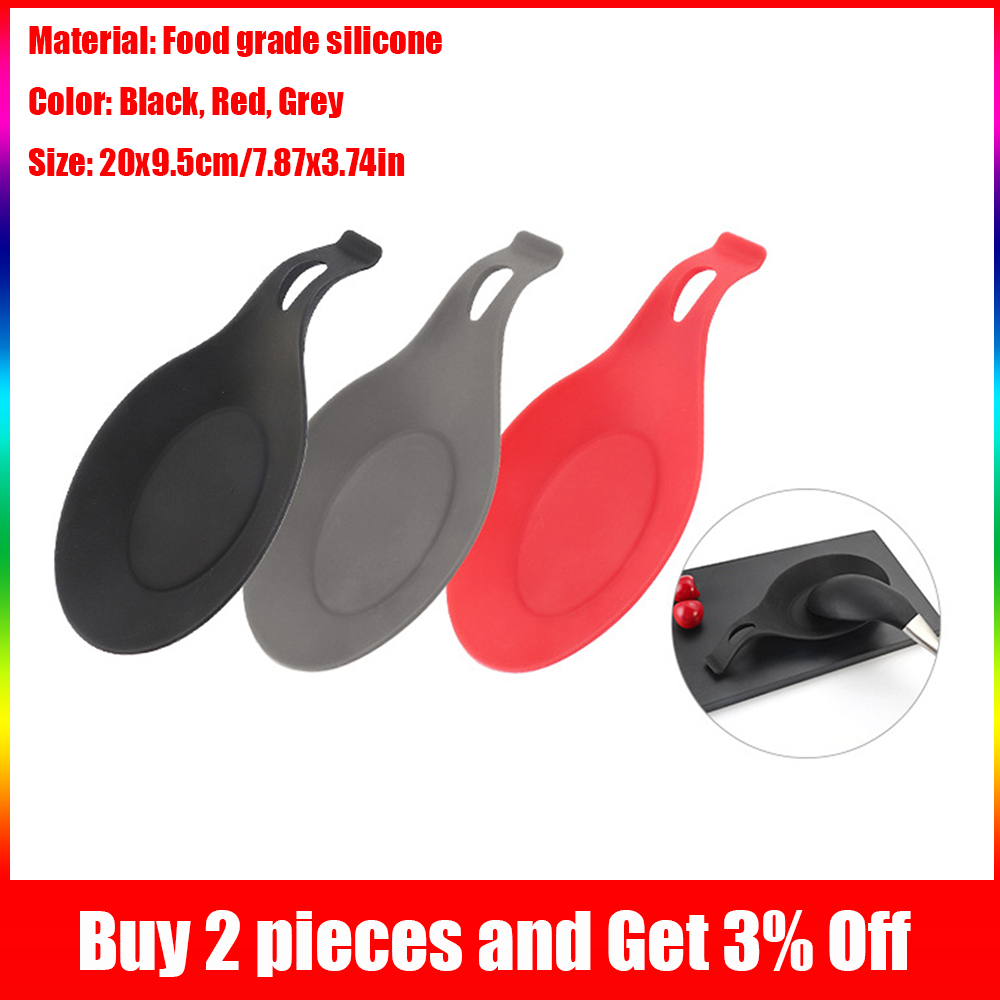 Silicone Spoons Spatula Pads Spoon Mats Insulation Mats Saucers Rice Spoon Racks Food Grade High Temperature Kitchen Cook