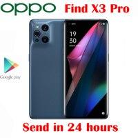 OPPO-teléfono inteligente Find X3 Pro, Original y oficial, Pantalla AMOLED de 6,7 pulgadas, Snapdragon 888, 65W, SuperVOOC, 30W, Air VOOC, NFC, cámara de 50.0MP, Android 11