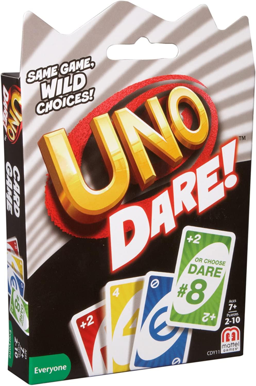Mattel Games CDY11 UNO: Dare - Card игра семья забавное развлечение настольная игра Веселые игральные карты подарочная коробка