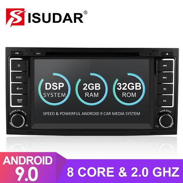 ايسودار 2 الدين أندرويد 9 راديو تلقائي ل VW/Volkswagen/طوارق Canbus سيارة الوسائط المتعددة تحديد مواقع لمشغل أقراص دي في دي ثماني النواة ROM 32 جيجابايت كاميرا DVR