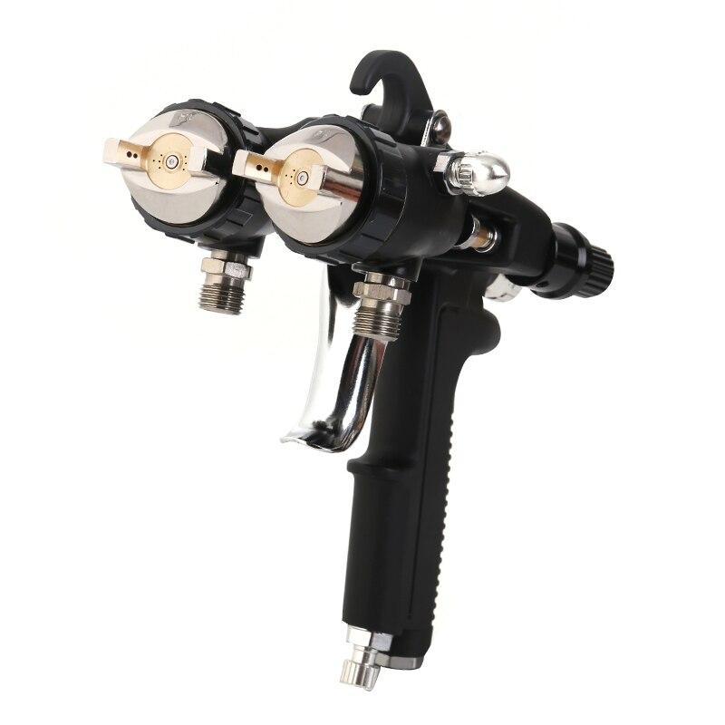 Double Nozzle Chrome Gun Dual Head Spray Gun 2021 new type