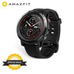 متوفر النسخة العالمية الجديدة Amazfit ستراتوس 3 ساعة ذكية لتحديد المواقع 5ATM بلوتوث الموسيقى وضع مزدوج 14 أيام ساعة ذكية لنظام أندرويد 2019