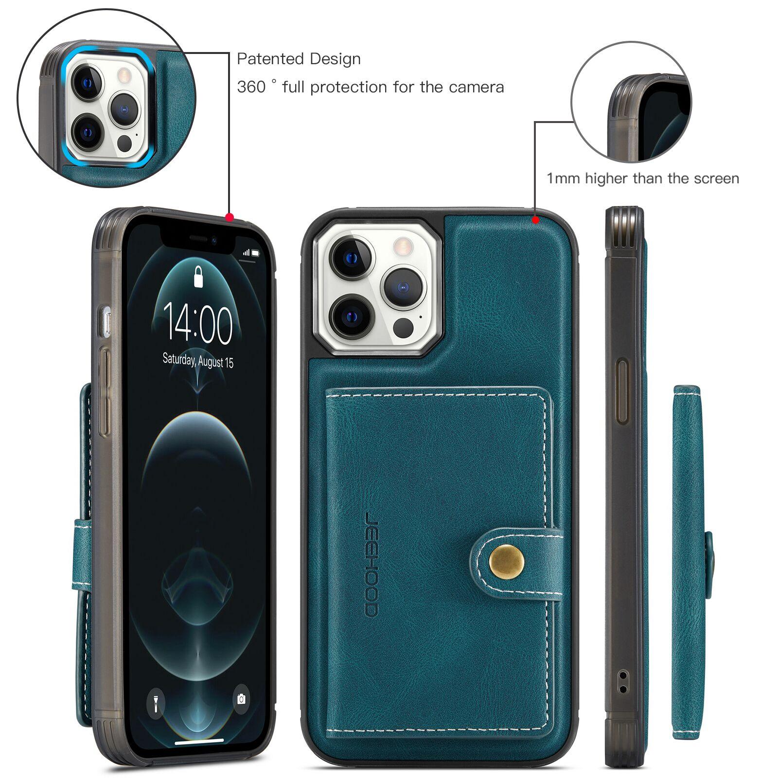 H99b9010e1c6b49608c206d825717dfc5S Capinha case Capa traseira para o iphone 12 11 pro max xs xr x se 2020 8 7 plus caso do telefone com suporte de cartão de couro magnético destacável carteira saco