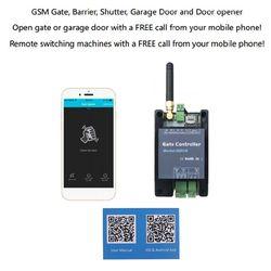 2020 nova 2G Interruptor do Relé GSM Portão Opener G202 Industrial Máquina Interruptor de Controle Remoto Abridor de Porta Controlador de Acesso Livre chamada