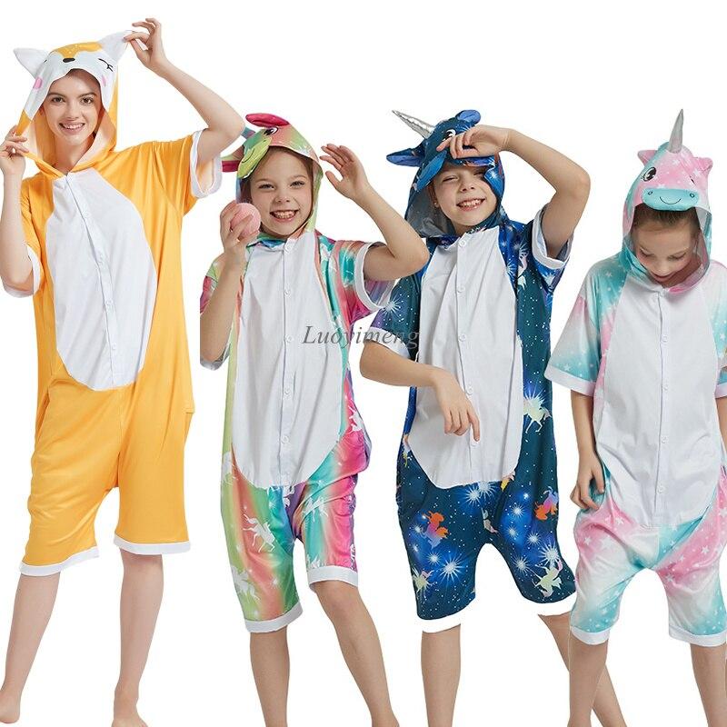 Verano niños Kigurumi mameluco unicornio pijamas para niños animales manta de dinosaurios Pijamas bebé traje niño niña Licorne jumspit Lote de 8 unidades de figuras de acción de Panda, Panda, Mini modelo de PVC para niños, juguetes de animales para niños, regalos de cumpleaños