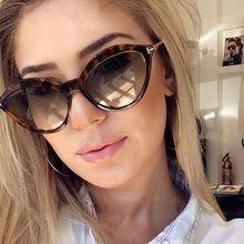 Luxury vintage cat eye plastic sunglasses women brand design gradient sun glasses for female mirror shades uv400 oculos