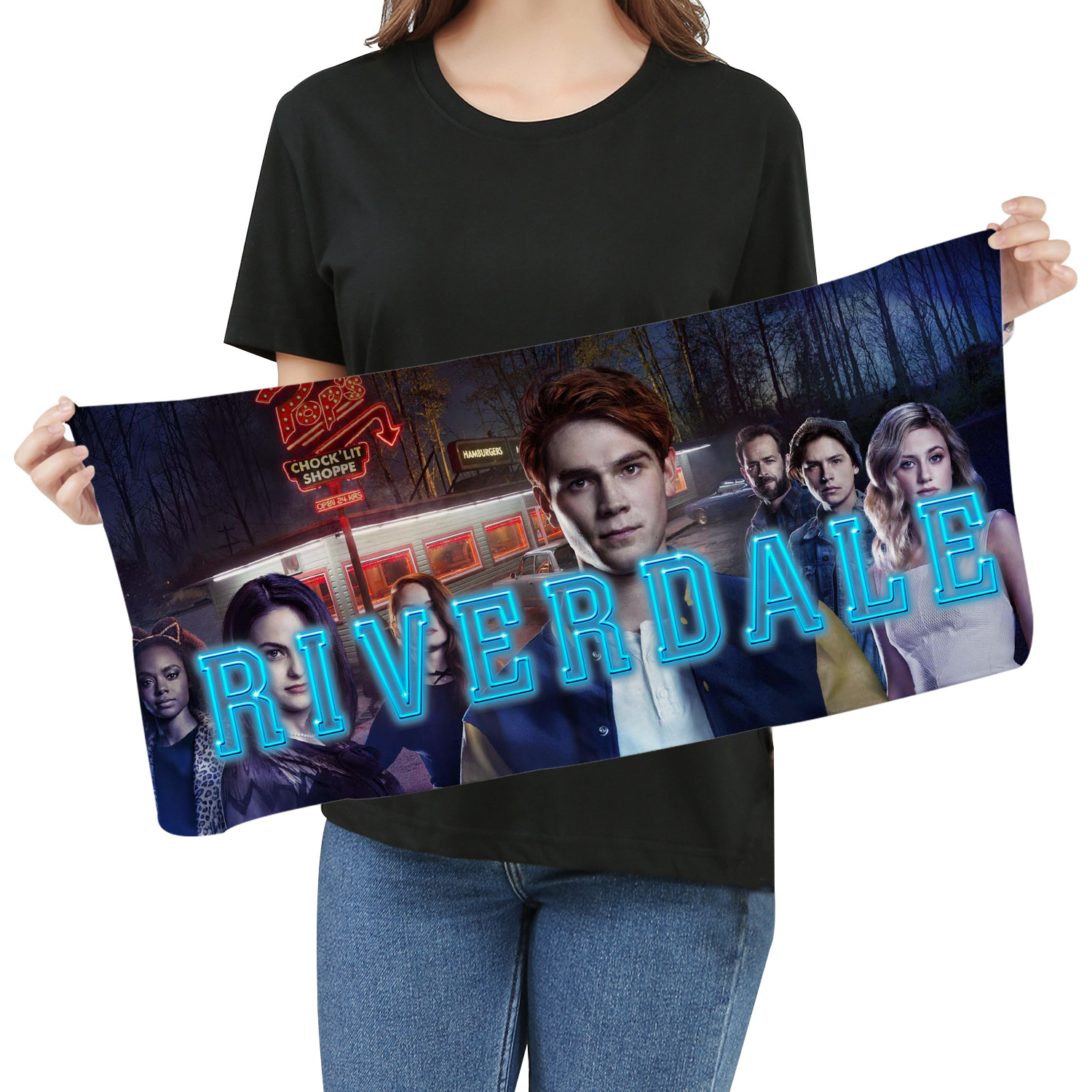 Riverdale American Drama Towel Towel Around The Same Paragraph Towel Wash Towel Microfiber Quick-drying Fashion Towel
