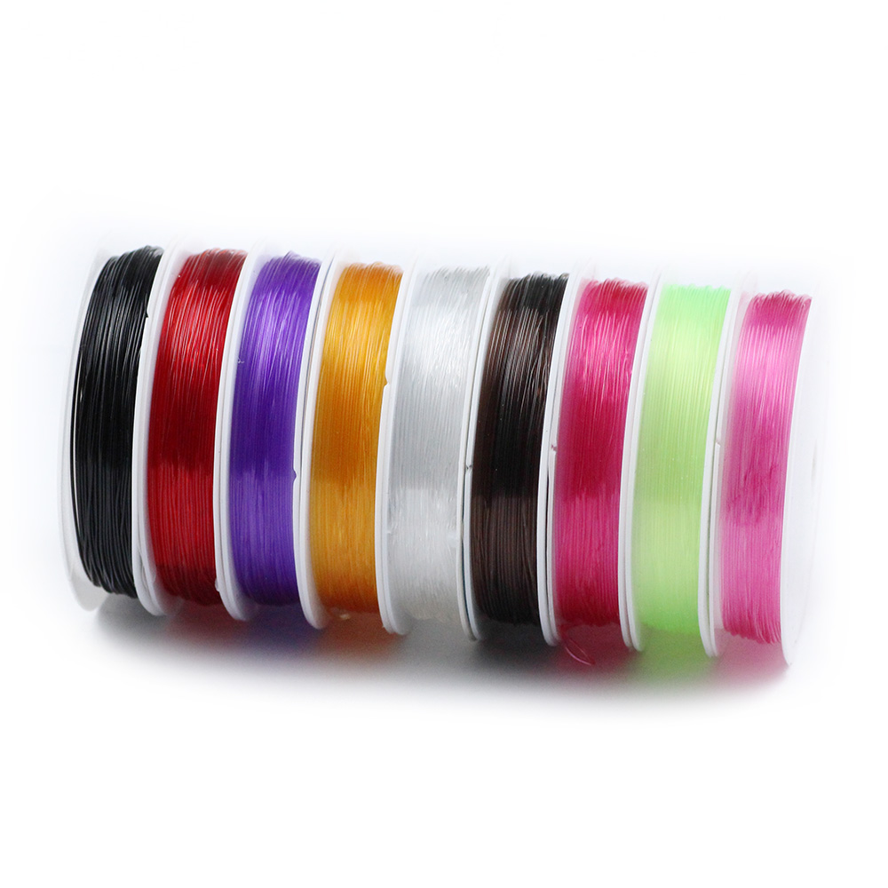 0.6-1mm Transparent Colorful Elastic Crystal Beading Rope Cord Thread String For DIY Bracelet&Necklace Jewelry Making Findings