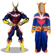 Anime Boku No My Hero Academia Alle Misschien Cosplay Kostuum Adult Unisex Kleding Kigurumi Stuk Pyjama Nachtkleding