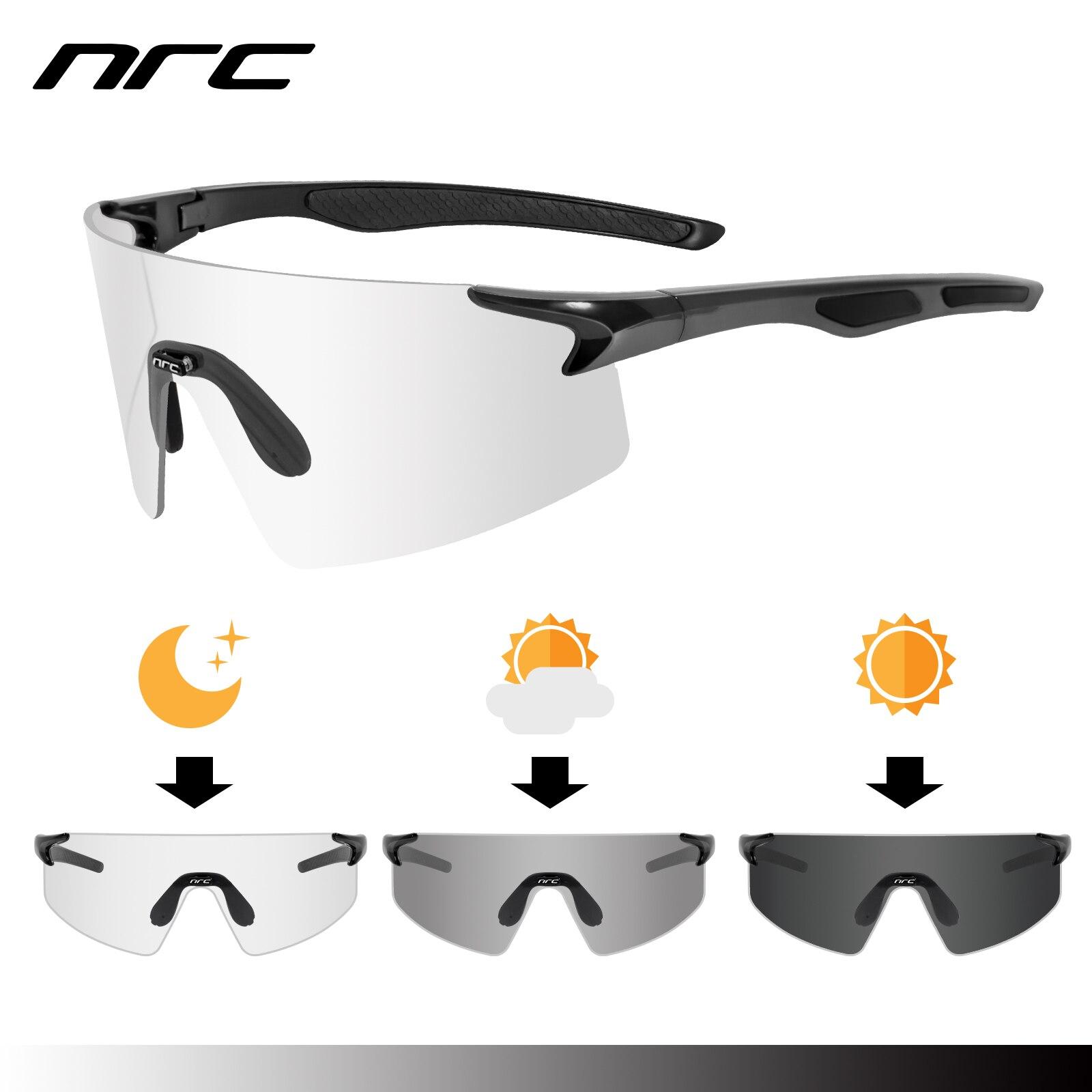 NRC 3 Lens UV400 occhiali da ciclismo TR90 sport occhiali da bicicletta MTB Mountain Bike pesca escursionismo equitazione occhiali per uomo donna 2