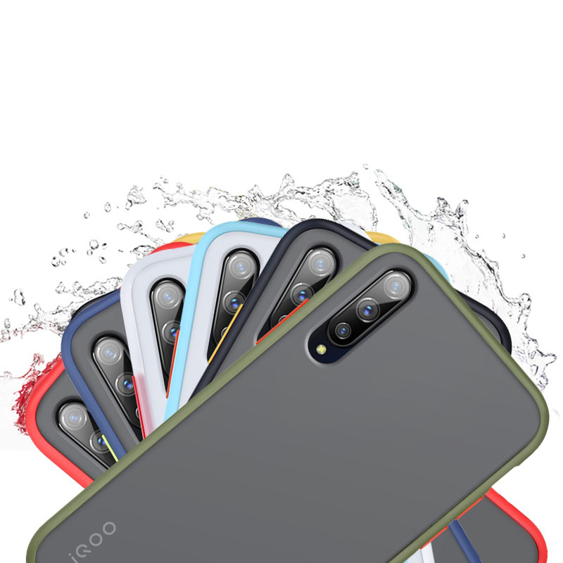 for <font><b>VIVO</b></font> S1 iQoo NEO <font><b>Z1</b></font> <font><b>Pro</b></font> Z5X <font><b>Case</b></font> Patch Color Exchange Able Independent Button Silicone Matte Scrub PC Cover image