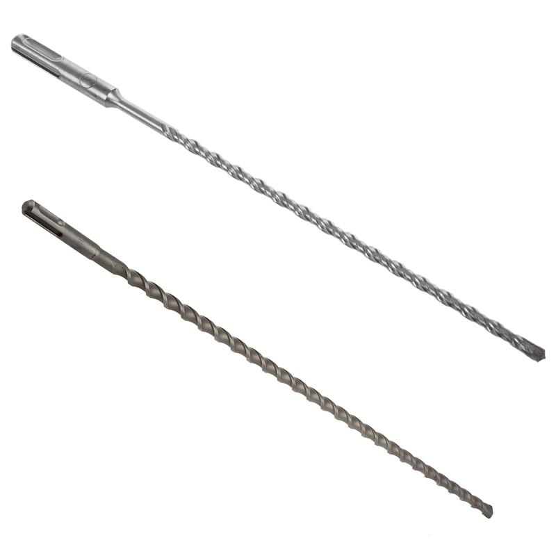 1Pcs SDS PLUS Hammer Drills Concrete Drills Cross-Cut Four-Cutting 6x260Mm & 1Pcs 50Cm 500Mm SDS+ PLUS 10Mm Hammer Masonry Drill