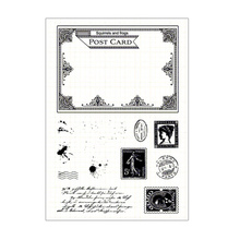 New Design Postcard Rubber Clear Stamps Transparent Seal For DIY Scrapbooking Card Making Album Decorative Silicon Stamp Craft beautiful wedding dress clear stamps transparent seal for diy scrapbooking card making album decorative silicon stamp craft