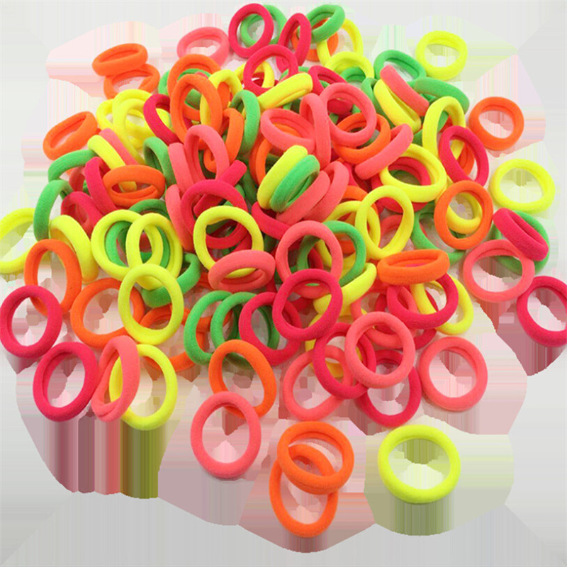 50Pcs Women Girls Hair Band Baby Ties Rope Ring Kids Elastic Hairband Tiny Solid Headwear Ponytail Holder Hot Accessories