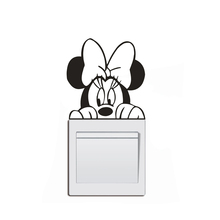 Disney Minnie Mouse Switch Sticker Cute Girls Room Decor Light Vinyl Wall Decal Removable Murals