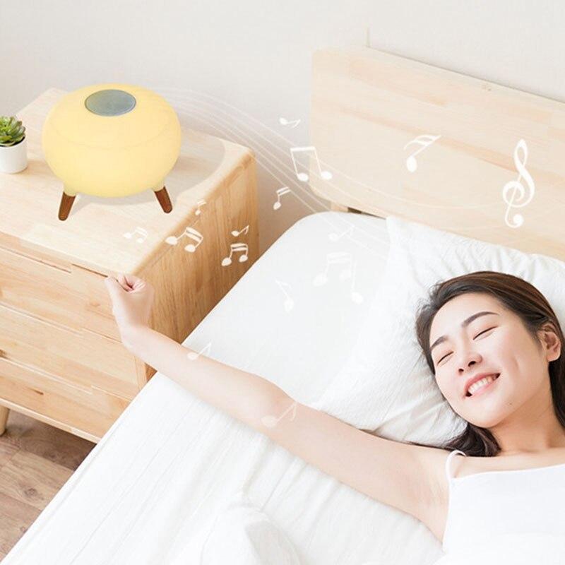 Bluetooth колонки красочный пульт дистанционного управления небольшой Настольный светильник светодиодный ночник зарядка умный дом модная лампа - 4